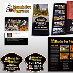 HLF Images Graphic and Web Design - Mountain Town Brochure, signs promo