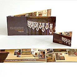 HLF Images Graphic Design and Web Development Consultant - Red Mountain Furniture Rack Card