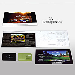 HLF Images Graphic Design and Web Development Consultant - Bearkat Chalets Booklet