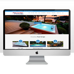 HLF Images Graphic and Web Design - Paradise Pool and Spa