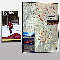 HLF Images Graphic Design and Web Development Consultant - Rossland Trails Map Winter 2