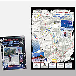 HLF Images Graphic Design and Web Development Consultant - Rossland Trails Map Winter 1