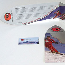 HLF Images Graphic Design and Web Development Consultant - Ski Quest rack card