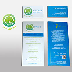 HLF Images Graphic Design and Web Development Consultant - The Harvest Table-logo-rack card